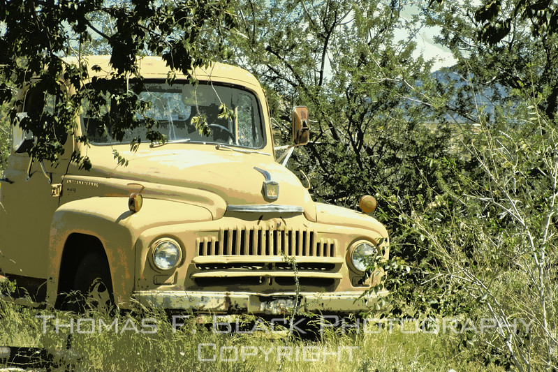 1950s international harvester. special graphic effect applied.