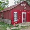 """shuttered store in oark. obvious question to be asked: """"where's elmo?"""" possibly same place as waldo."""