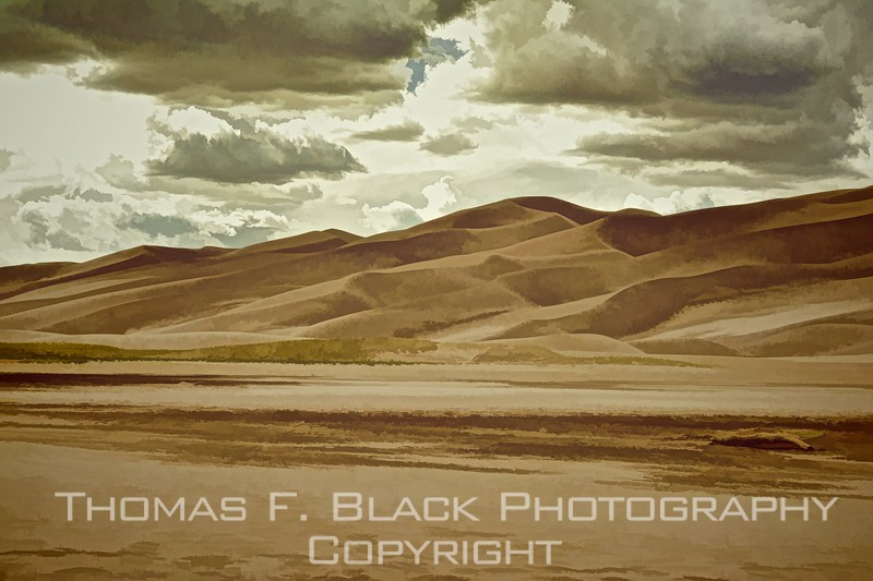 sand dunes sample, special graphic effect applied.