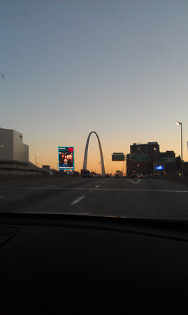 approaching St. Louis arch