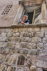 One of the inhabitants of the old city of Dubrovnik