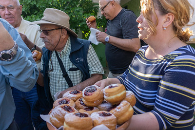 Homemade jelly donuts baked for us at the farm where we spent one night.