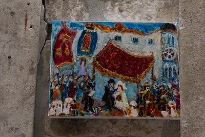 On display outside the old synagogue in Dubrovnik
