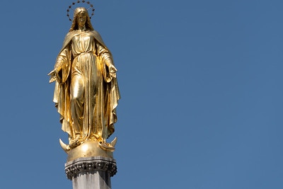 Statue of the Holy Mary in front of Zagreb Cathedral