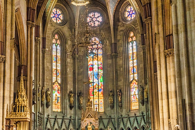 Inside the beautiful Zagreb Cathedral