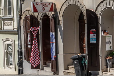 A shop highlighting that the neck tie started in Croatia in the 17th century.