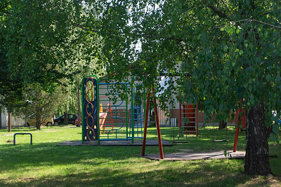 The playground at the village school