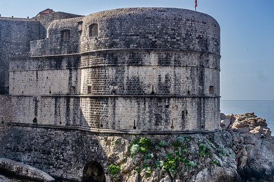 Dubrovnik,, part of the fortress