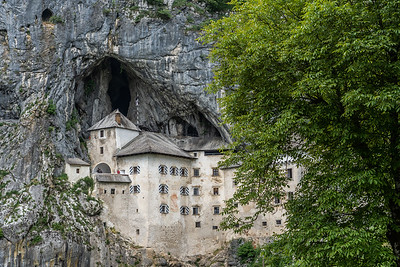 Predjama Castle was built into a cave during the Renaissance.