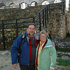 Happy travelers...Chuck and Amy in Pula's Roman Amphitheater