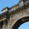 The arch was constructed in between 29 and 27 BC by the Sergi Family.