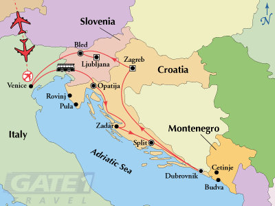 Croatia, Montenegro, Slovenia, Venice<br /> Tour with Gate1 Travel...November 25, 2010 - December 7, 2010