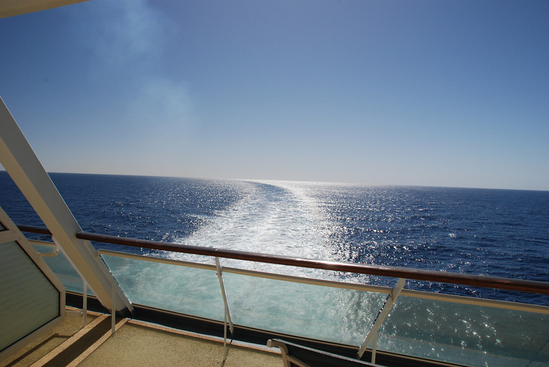The view from our cabin as we scurry away from Puerto Vallarta.