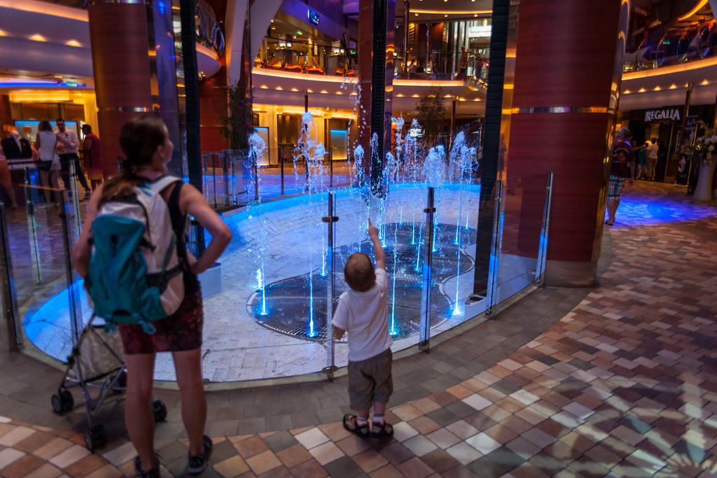 "From ""The Royal Promenade"" on Royal Caribbean's Oasis of the Seas."
