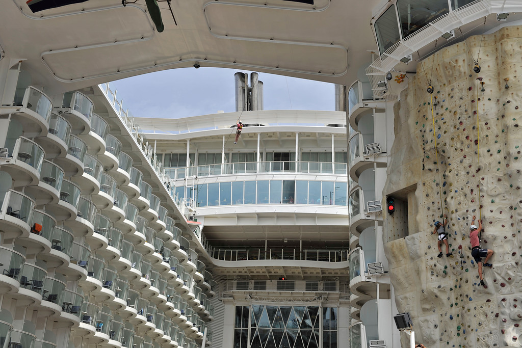Rock-climbing and Zip-Lining, just 2 of the activities on board the Oasis of the Seas!