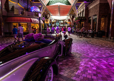 """Remember now.....you're inside a cruise ship!  From """"The Royal Promenade"""" on Royal Caribbean's Oasis of the Seas."""