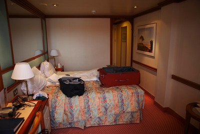 Our room for the cruise.
