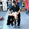 Buenos Aires, Argentina - tango dancers on a street in La Boca