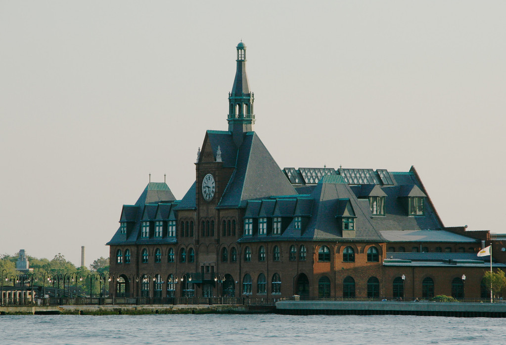This is yet another historic train station, recently restored, next to Ellis Island near Jersey City, NJ