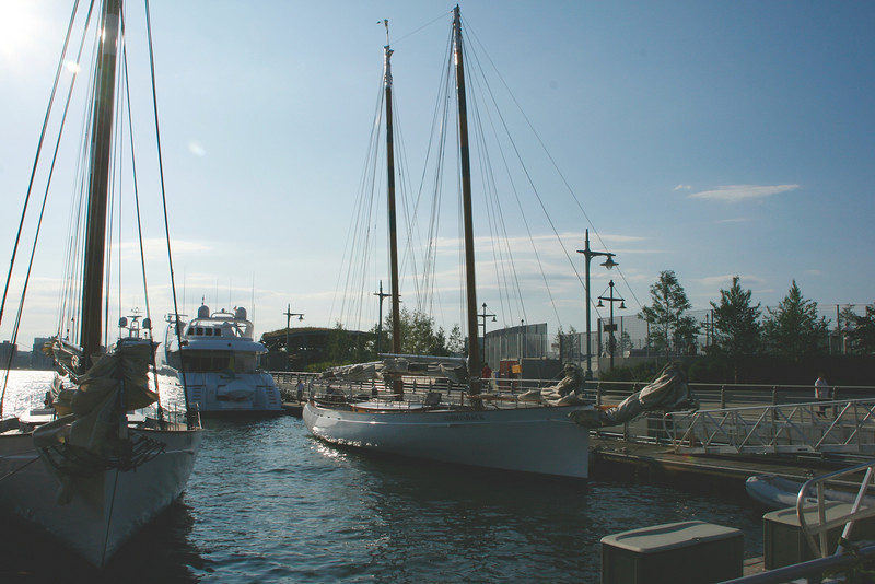 Some of these early shots were taken at Chelsea Piers before the sailing.