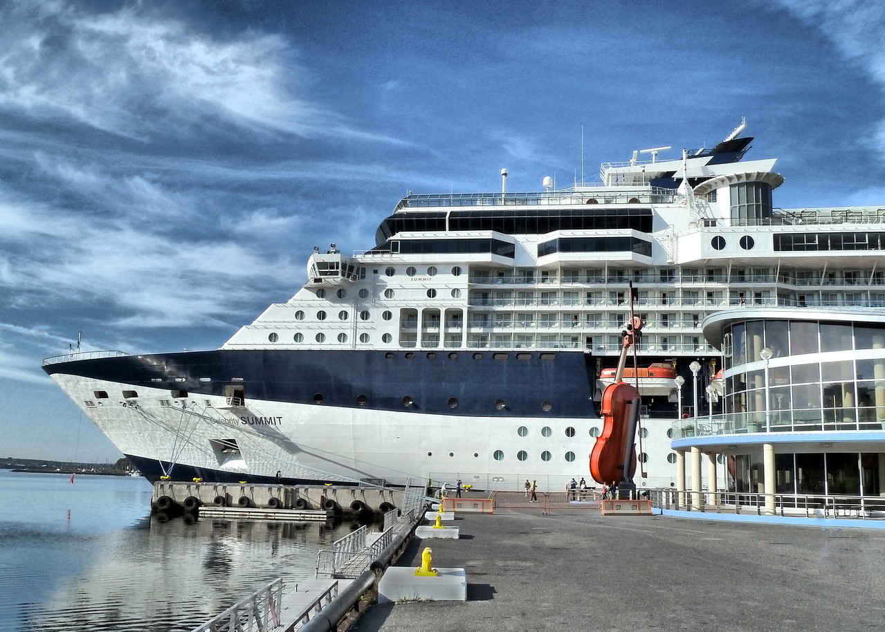 Our Cruise Ship Celebrity Summit at Sydney Harbor