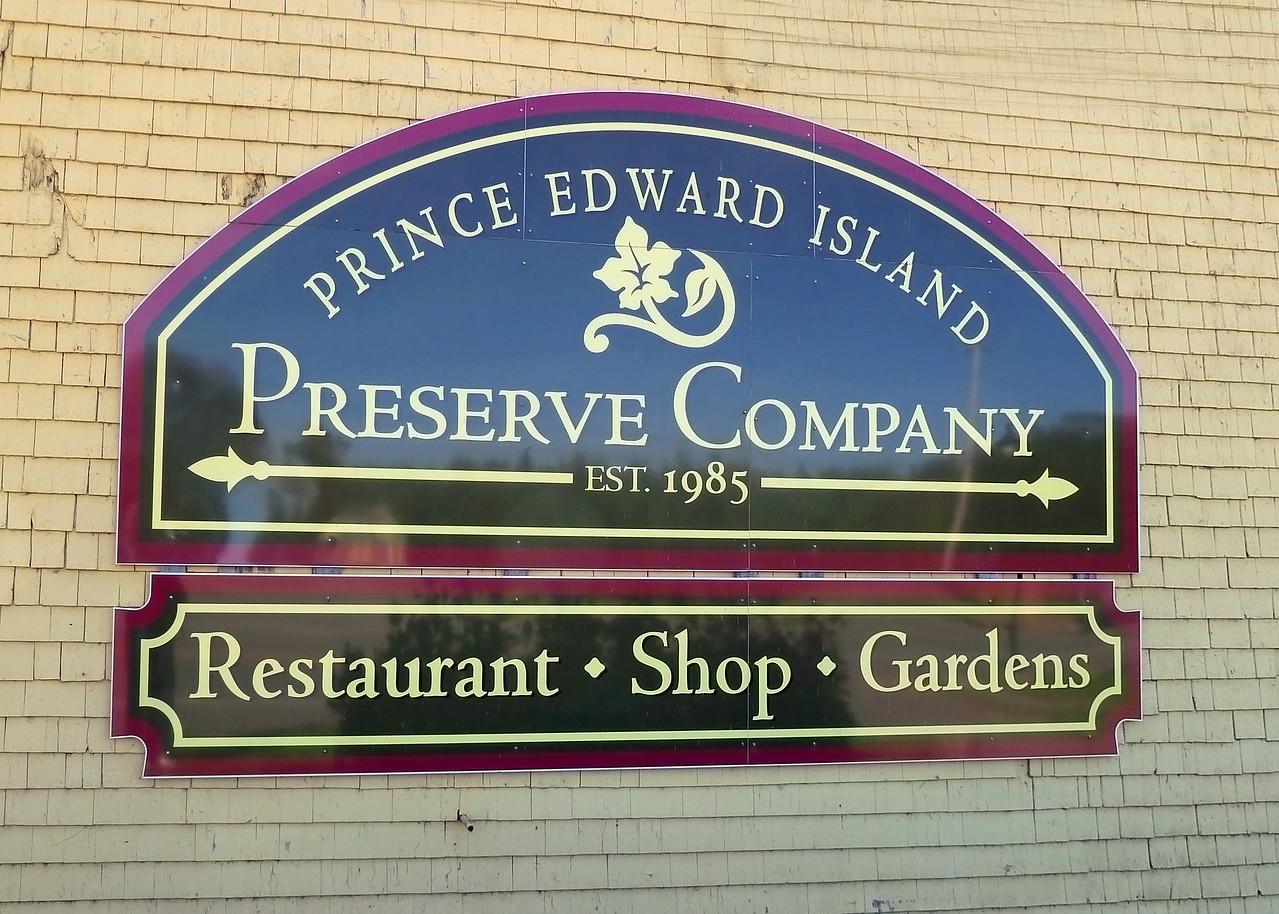 PEI Preserve Company Sign