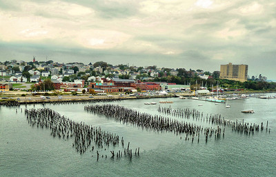 Portland Maine Harbor View From Veranda