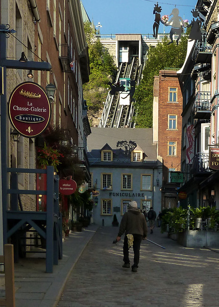 Walking to Funicular