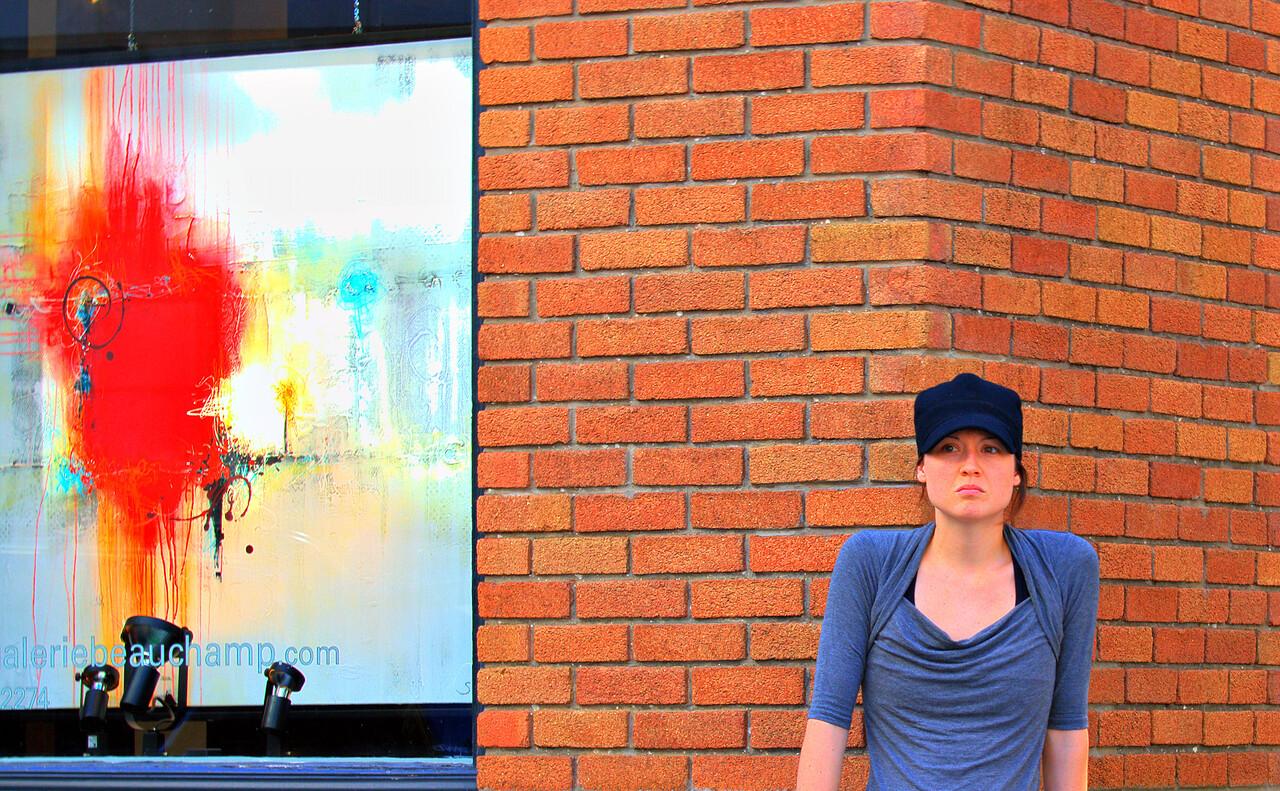 Girl outside gallery