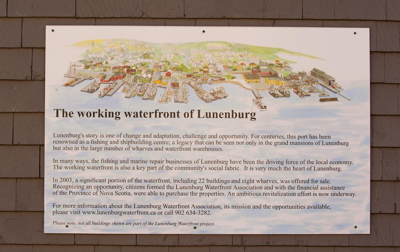 Lunenburg Waterfront Plaque