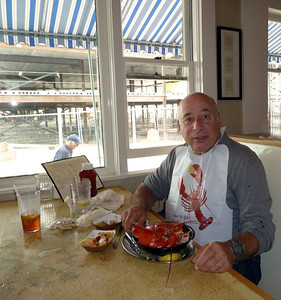 Birthday Lobster for Ray in Bar Harbor