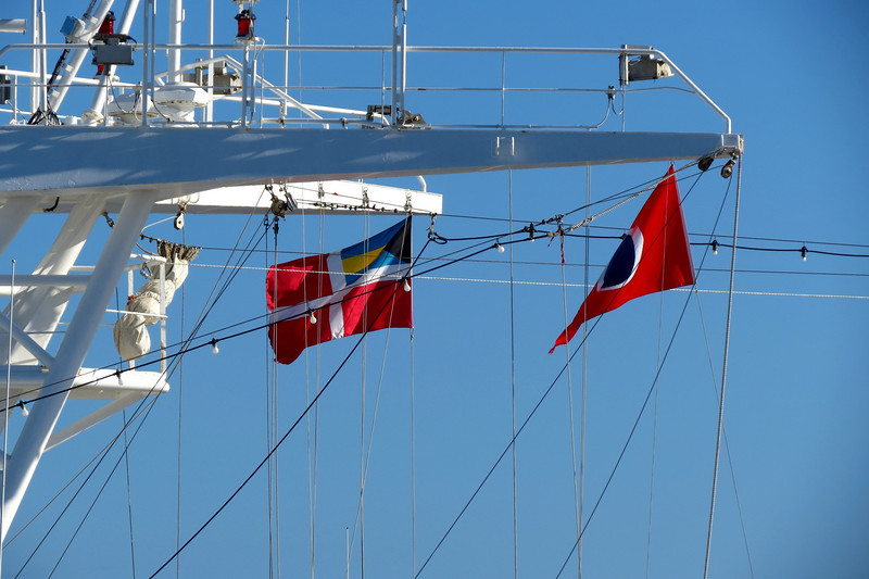 Flags on the Carnival Sensation