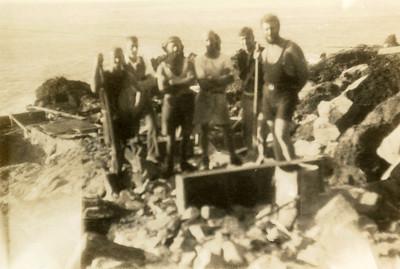 Sunday Island.  Mining crew.