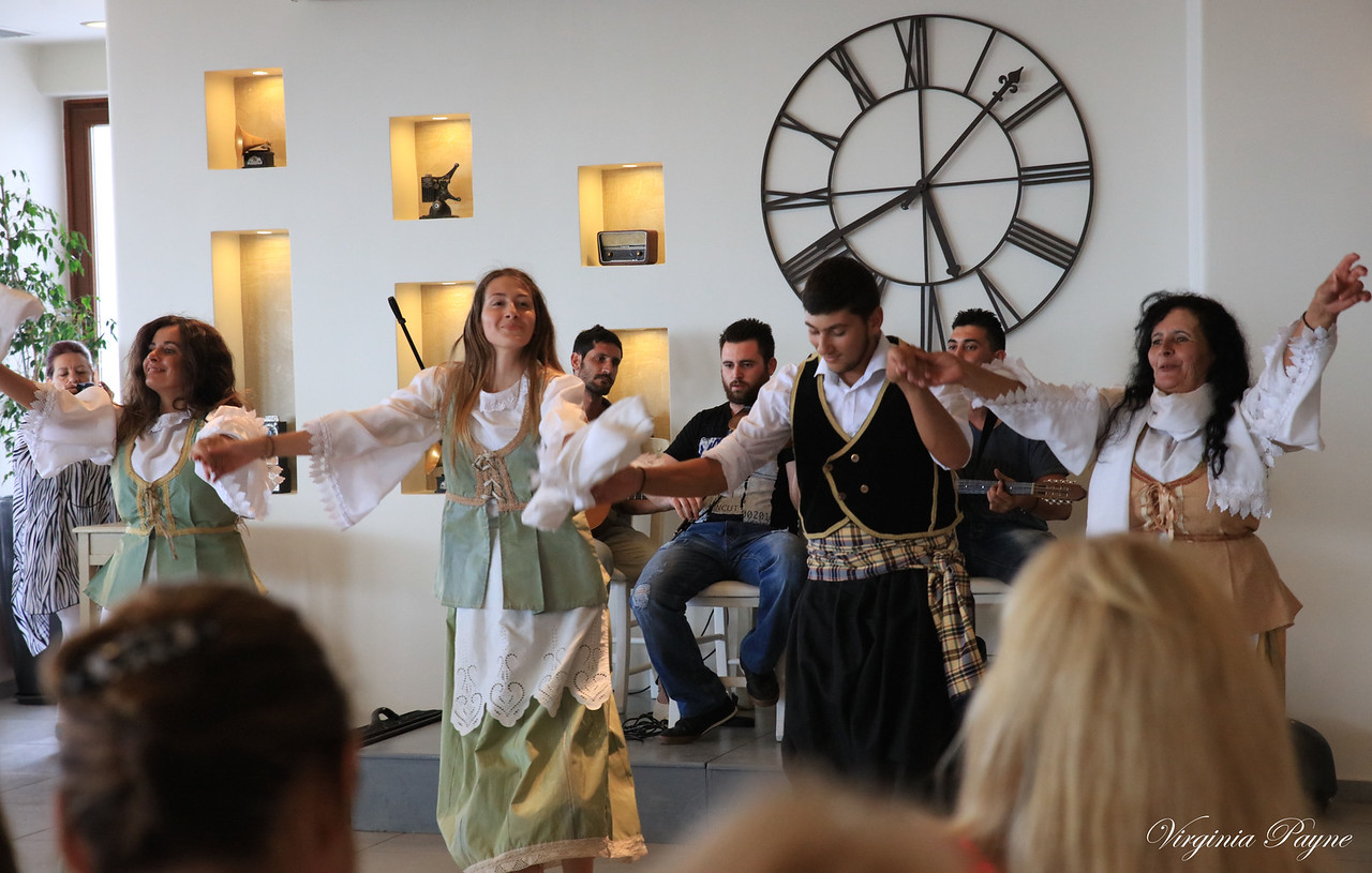 "A typical Greek fiesta dancing to ""Zorba the Greek""."