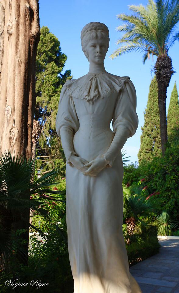 Life size statue of Empress Elisabeth of Austria (Sisi).