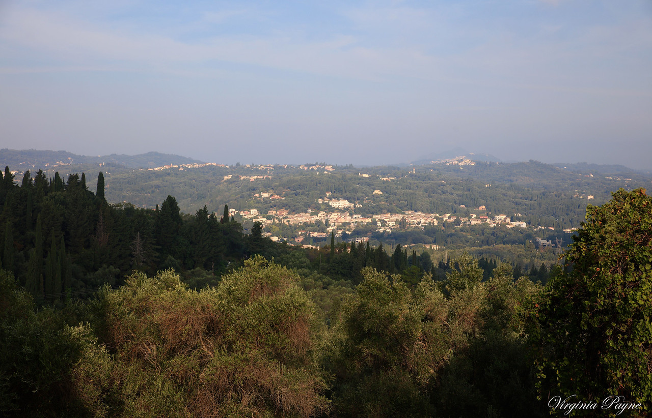 A nice view of the Corfu island from the top of the Achilleion Gardens.