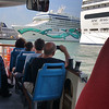 """Taking the vaporetto to the Venice port for our embarcation of the cruiseship - """"The Norwegian Jade""""."""