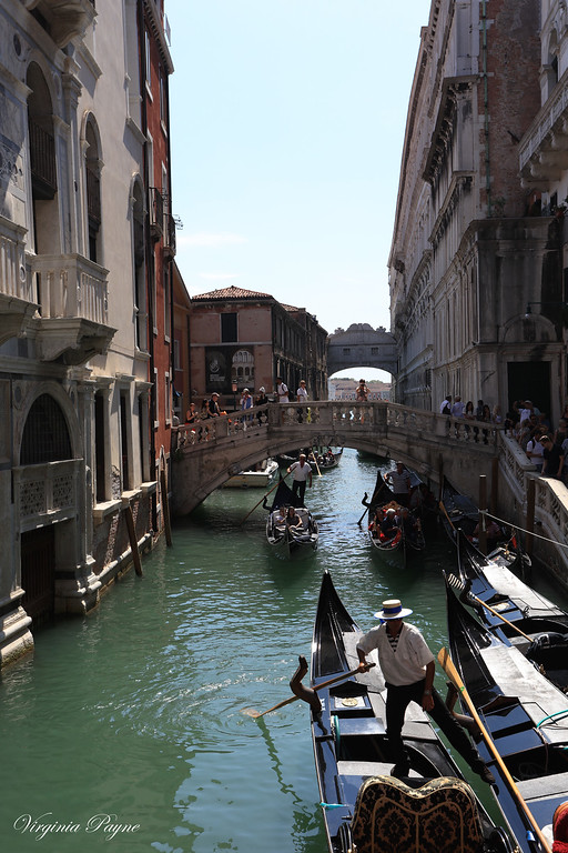 San Marco is also full of narrow rivers with a whole slew of gondolas everywhere...