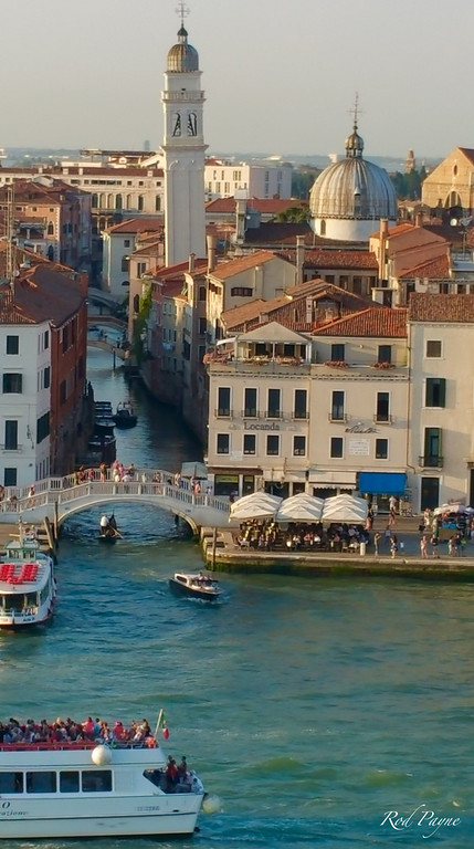 Many bridges and canals in Venice...