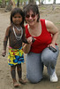 Judy with Embera girl