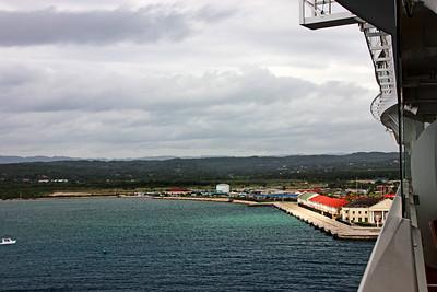 Sailing into Falmouth Cruise Port