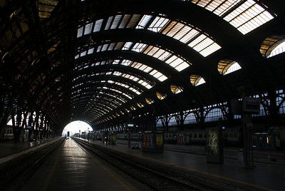 Arriving in Milan train station on Oct 17th well rested.