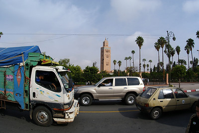 Marrakesh, Morocco.  This was the extent of our photo-stop of the Mosque.