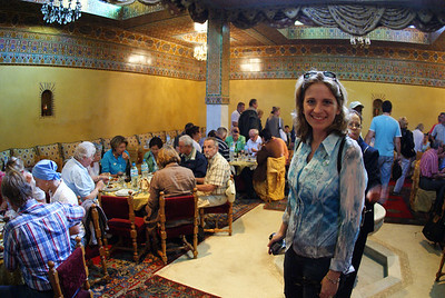 Marrakesh, Morocco.  Had the best meal on the entire cruise at this restaurant.