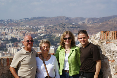 Dad, Mom, the Attache and I at Gibralfaro Castle