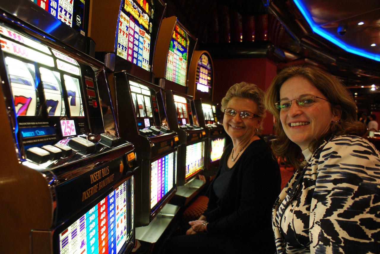 Mom and the Attache in the ship casino.