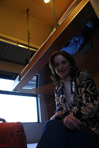 Started our trip with an overnight train from Vienna to Milan.  Here is the Attache in our tiny train cabin.