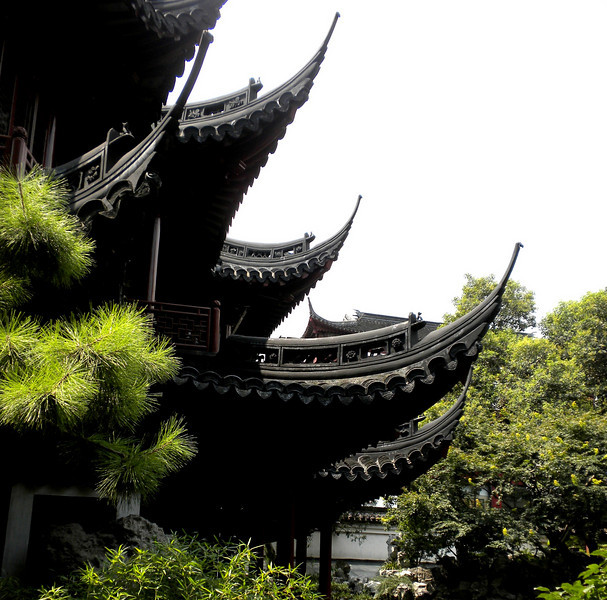 Shanghai, China - inside Yu Garden