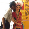 Keelung, Taipei - Peter secretly kissinig an indigenous beauty while Beverly was not around
