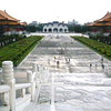 Taipei, Taiwan - Looking down from the Memorial Hall at the main gate to the Memorial.